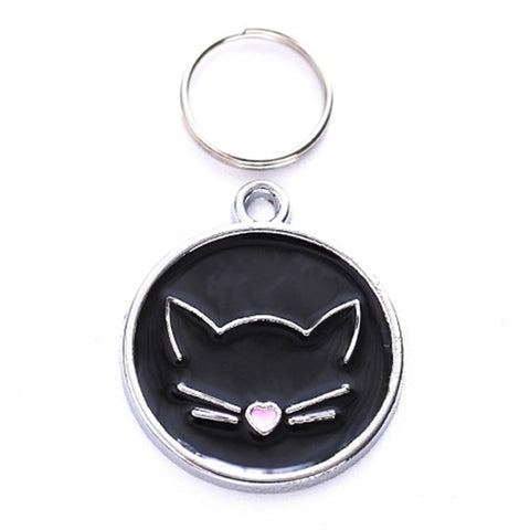 NEW  Cat Face Zinc Alloy ID Tag
