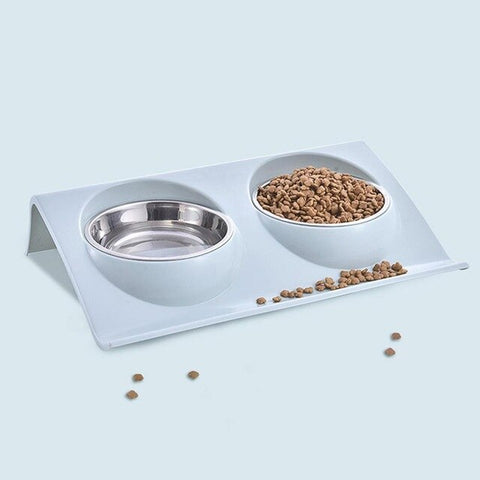 Double Stainless Steel Pet Bowls - Food/Water.