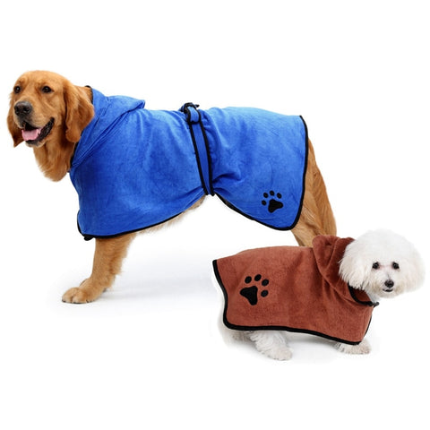 Dog Towel Bathrobe / Water Absorption Micro Fiber