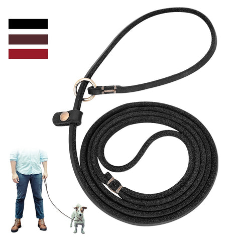 Genuine Leather Long Traction Lease/P Rope Collar