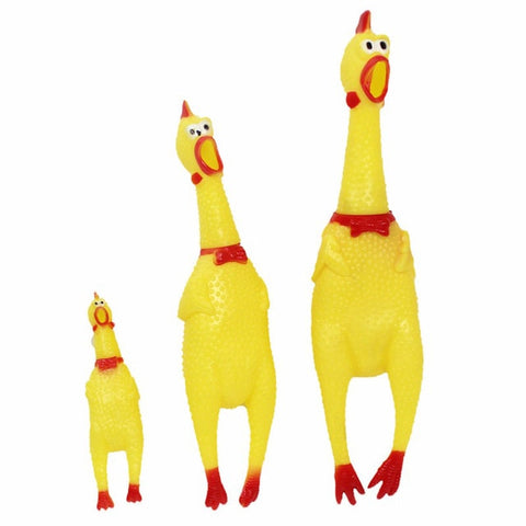 Funny Rubber Screaming Chicken  Chewing Dog Toy.