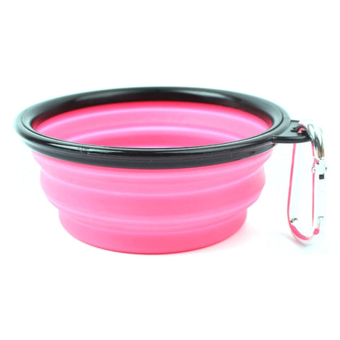 Candy Color Portable Silicone Dog Bowls.