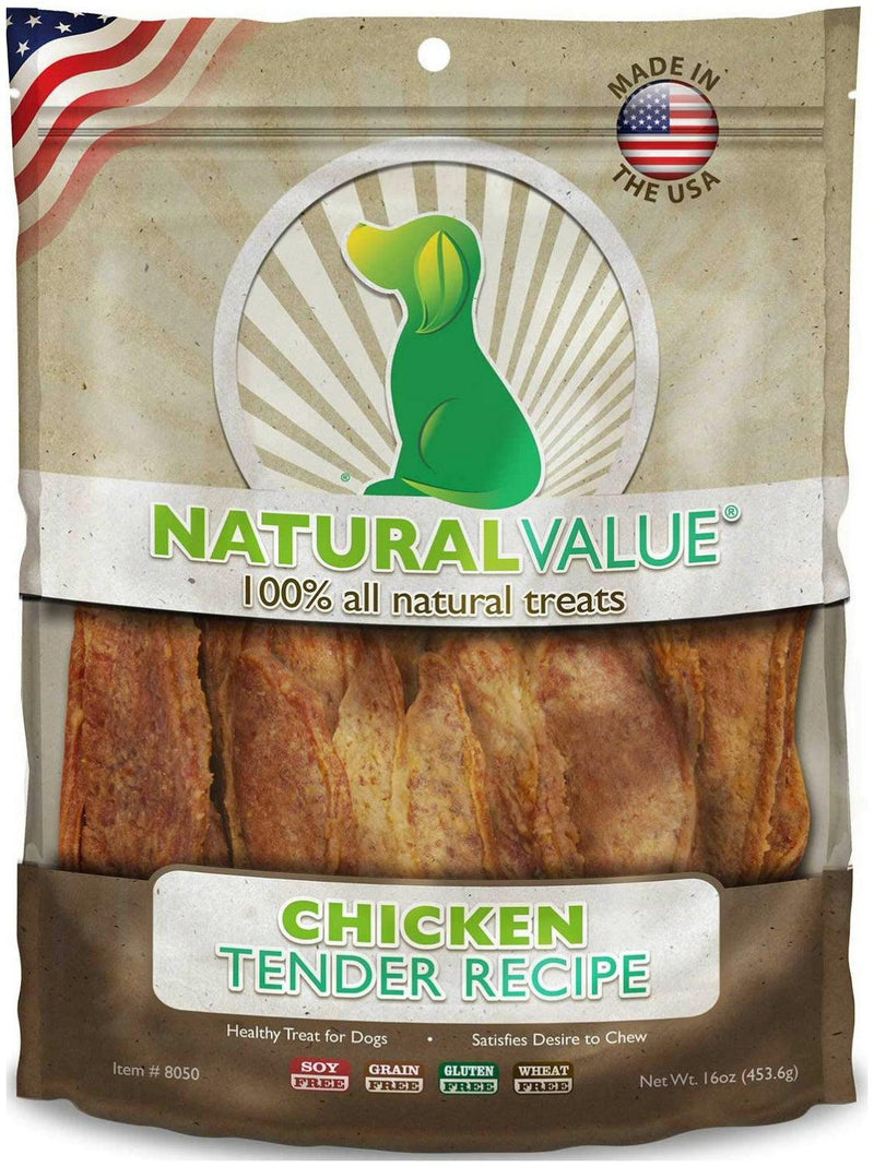 Loving Pets Chicken Tenders Soft Chews for Dogs, Natural Value, 14 Ounce, 12 Pack
