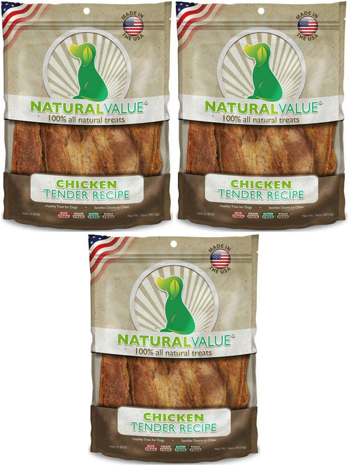 Loving Pets Chicken Tenders Soft Chews for Dogs, Natural Value, 14 Ounce, 3 Pack