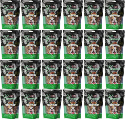 Loving Pets Duck Filet Strips Dog Chews, Gourmet All Natural Premium, 6 Ounce, 24 Pack