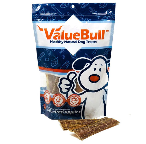 ValueBull 6 Inch Buffalo Jerky Dog Treats, 25 Count