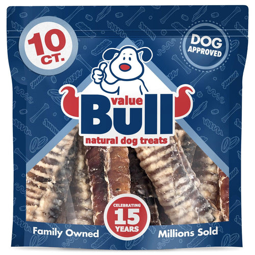 ValueBull USA 6 Inch Trachea Dog Chews, 80 Count