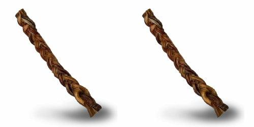 ValueBull USA Braided Bully Stick Dog Chews, Thick 8 Inch, Odor-Free, 2 Count