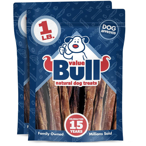ValueBull USA Bully Sticks for Dogs, 6 Inch, Odor Free, 2 Pound
