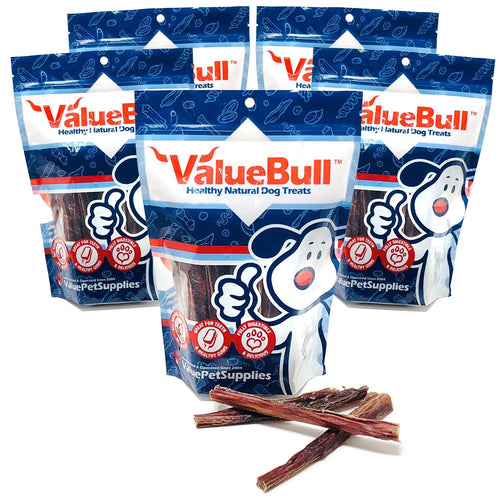 ValueBull USA Bully Sticks for Dogs, 6 Inch, Odor Free, 5 Pound