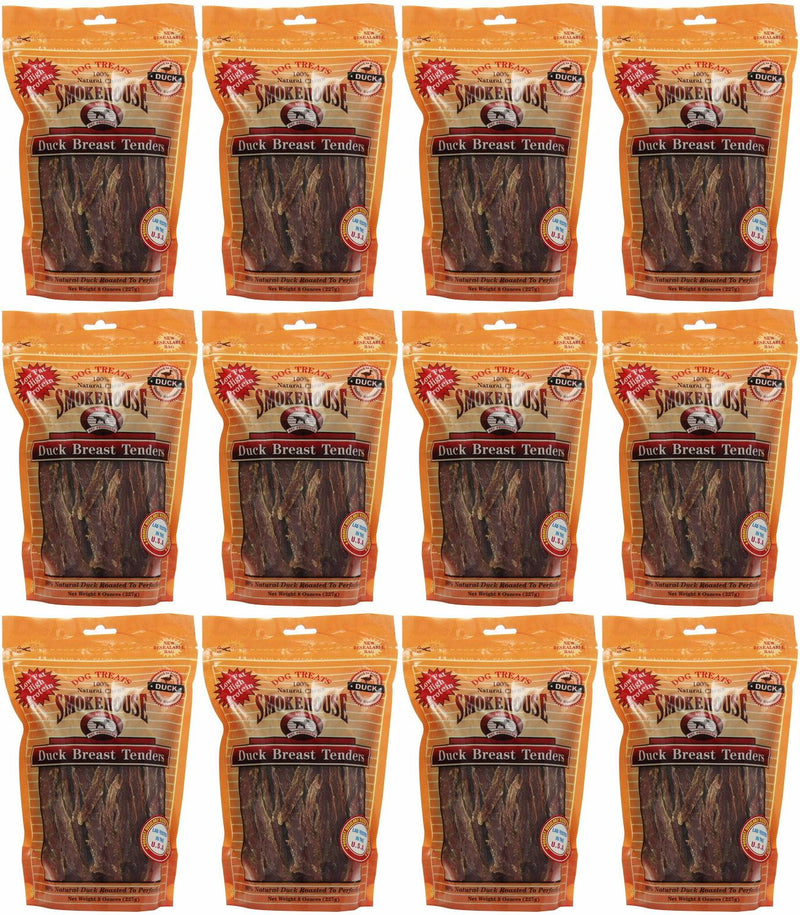 Smokehouse Duck Breast Tenders Dog Chews, 8 Ounce, 12 Pack