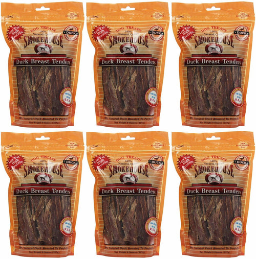 Smokehouse Duck Breast Tenders Dog Chews, 8 Ounce, 6 Pack