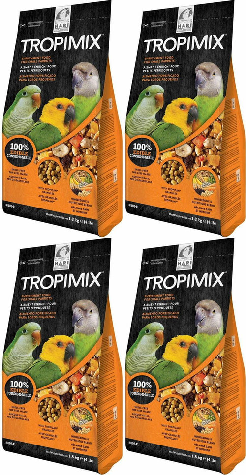 Tropimix Enrichment Food for Small Parrots, 4 Pound, 4 Pack