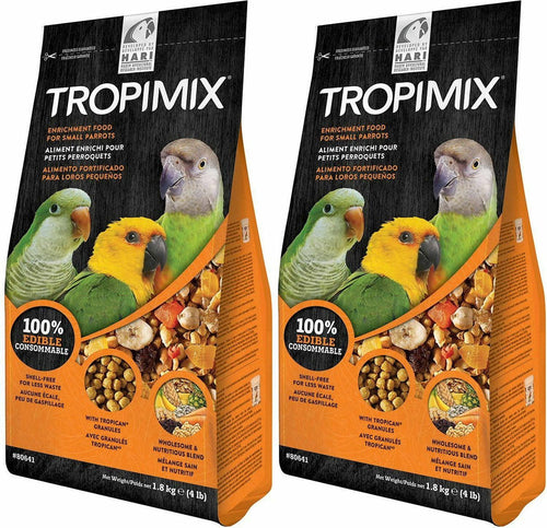 Tropimix Enrichment Food for Small Parrots, 4 Pound, 2 Pack