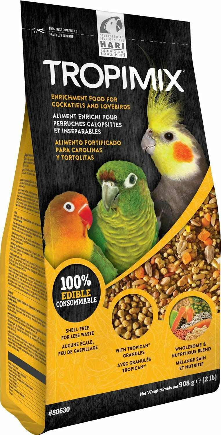 Tropimix Enrichment Food for Cockatiels & Lovebirds, 2 Pound
