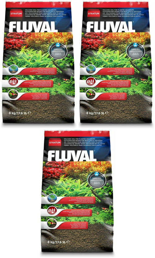 Fluval Plant and Shrimp Stratum, 17.6 Pound, 3 Pack