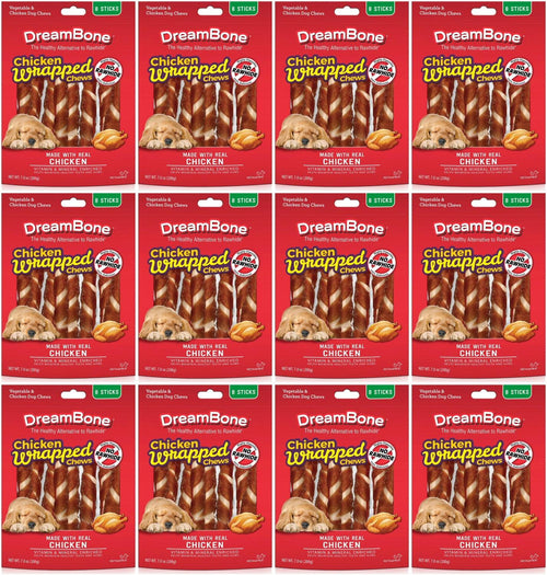 DreamBone Dog Chews Chicken Wrapped Sticks, Large 96ct (12 x 8ct)