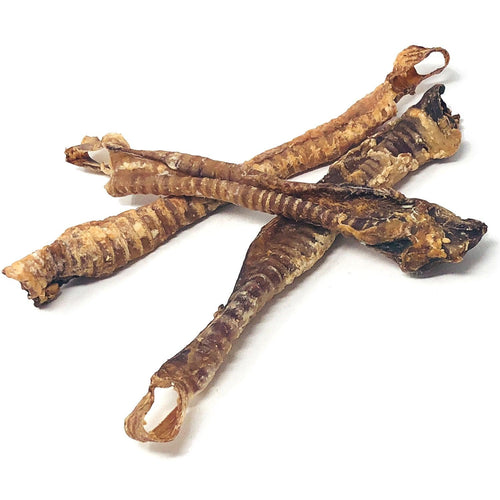 ValueBull Lamb Trachea, Premium 6-9 Inch, 120 Count, Natural Dog Treats