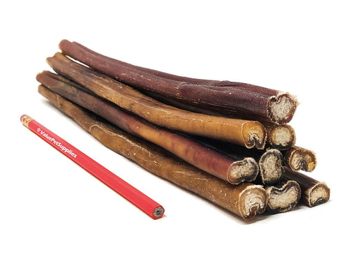 ValueBull Premium Bully Sticks for Dogs, Thick 12 Inch, 25 Count