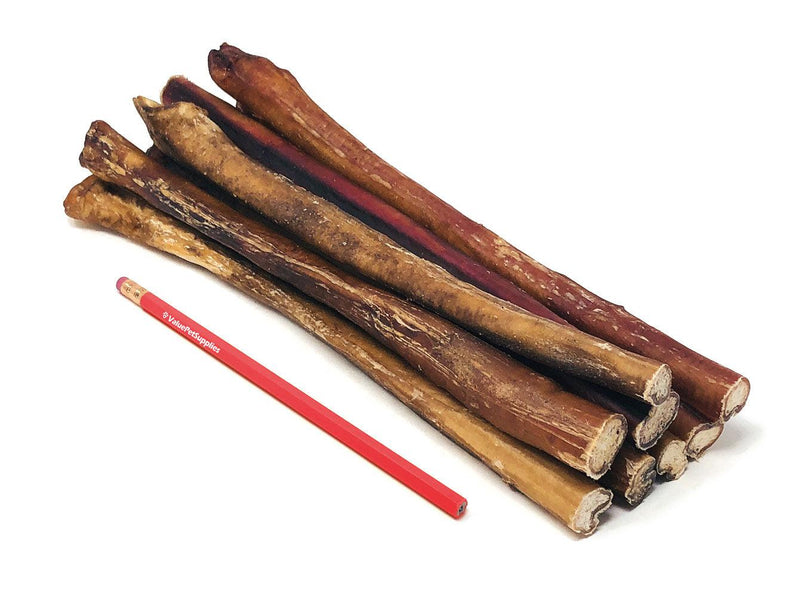 ValueBull Premium Bully Sticks for Dogs, Jumbo 12 Inch, 25 Count
