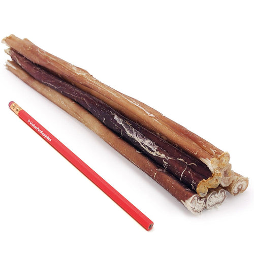 ValueBull Bully Sticks for Small Dogs, Thin 12 Inch, Low Odor, 50 Count