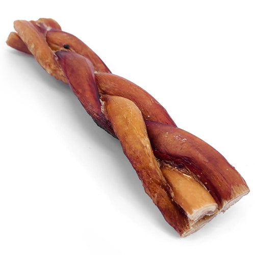 ValueBull Braided Bully Sticks, Thick 6 Inch, 50 Count