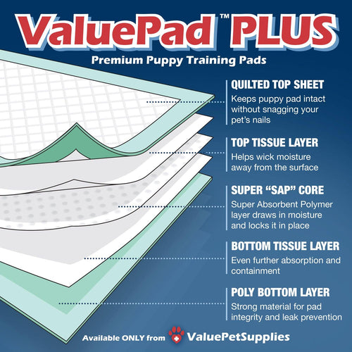 ValuePad Plus Puppy Pads, Large 28x30 Inch, 50 Count