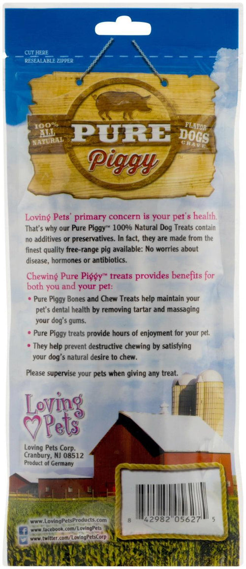 Loving Pets Pig Pizzles for Dogs, 6-7 Inch, Pure Piggy, 6 count, 6 Pack