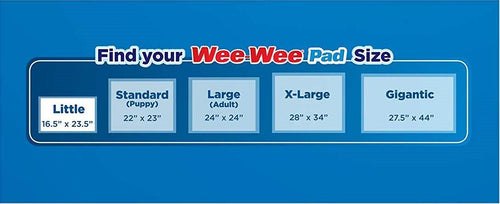 Four Paws Wee Wee Pads, Gigantic 27.5x44 Inch, 18 Count, 16 Pack
