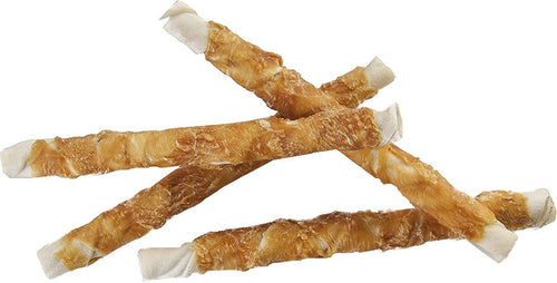 Pet 'n Shape Rawhide & Chicken Dog Treats, Chik 'n Hide Twists, 10 Inch, 6 Count, 12 Pack