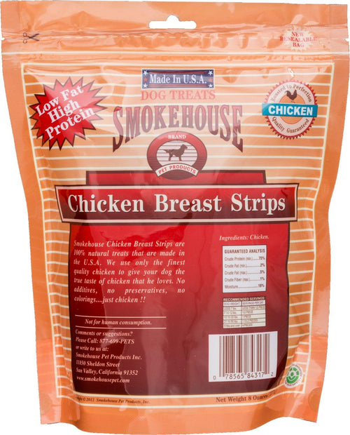 Smokehouse USA Chicken Breast Strips Dog Chews, 8 Ounce