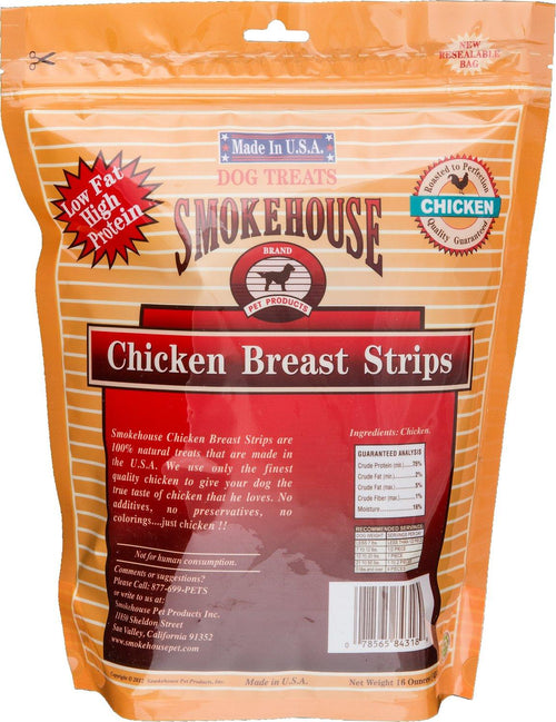 Smokehouse USA Chicken Strips Dog Chews, 16 Ounce, 10 Pack
