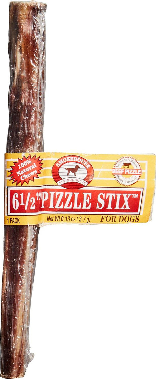 Smokehouse Steer Pizzles Dog Chews, Beef Sticks, 6.5 Inch, 100 Count