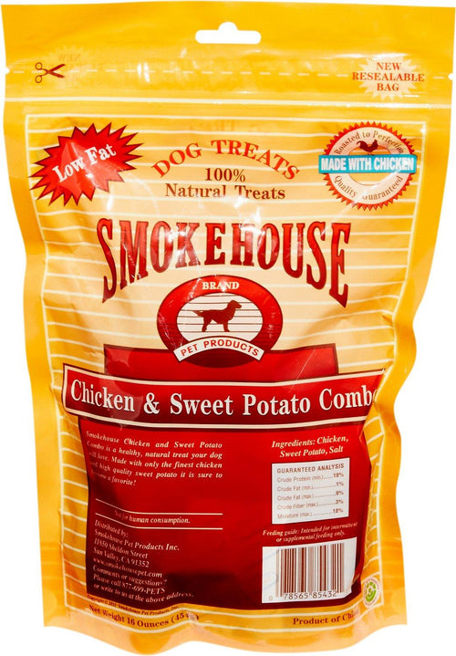 Smokehouse Chicken & Sweet Potato Dog Treats, 16 Ounce