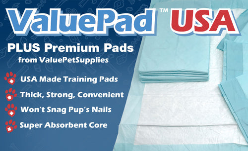 ValuePad USA Plus Puppy Pads, Medium 23x24 Inch, 400 Count