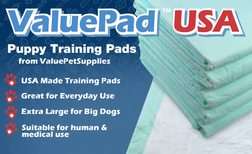 ValuePad USA Plus Puppy Pads, Large 30x30 Inch, 10 Count