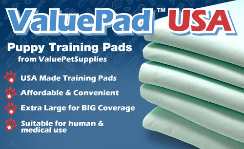 ValuePad USA Puppy Pads, Large 30x30 Inch, Economy, 150 Count