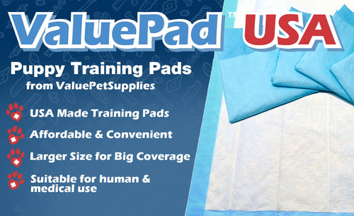 ValuePad USA Puppy Pads, Large 23x36 Inch, 300 Count