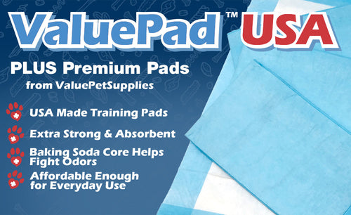 ValuePad USA Puppy Pads, Small 17x24 Inch, Polymer and Baking Soda, 900 Count