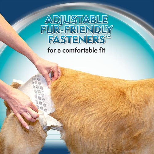 Simple Solution True Fit Disposable Dog Diaper with Tail-Hole, Medium, 30 Count, 3 Pack