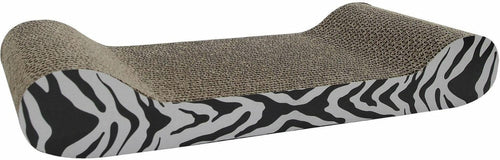 Catit Style Patterned Cat Scratcher withCatnip, White Tiger Lounge
