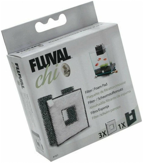 Fluval CHI II Filter Foam & Foam Pad Combo Pack, 4 Count