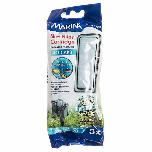Marina Bio Carb Cartridge for Slim Filters, 3 Count, 12 Pack
