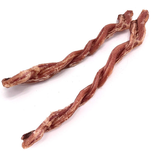 ValueBull USA Lamb Pizzle Twist Dog Chews, 6 Inch, 10 Count