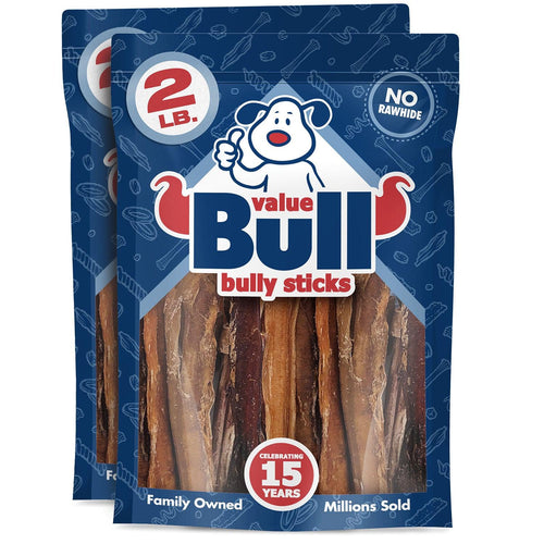 ValueBull Bully Sticks, 5-6 Inch, Varied Shapes, 4 Pounds