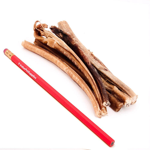 ValueBull Bully Sticks for Small Dogs, Extra Thin 5-6 Inch, Varied Shapes, 25 Count