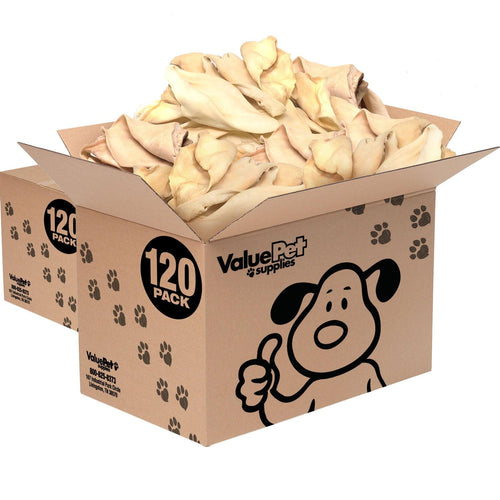 ValueBull Premium Cow Ears, Large, 240 Count