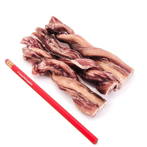 ValueBull USA Beef Pizzle Twists Dog Treats, 6 Inch, 200 Count