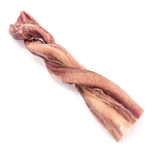 ValueBull USA Beef Pizzle Twist Dog Treats, 6 Inch, 25 Count