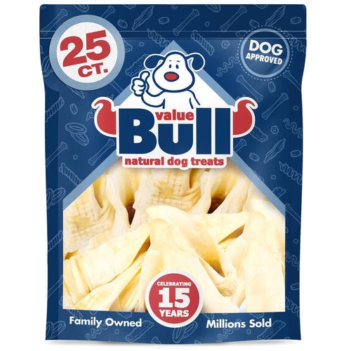 ValueBull Smoked Lamb Ears Dog Treats, 100 Count